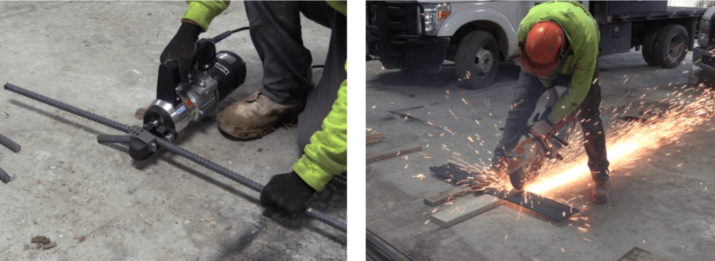 rebar cutter compared with gas saw