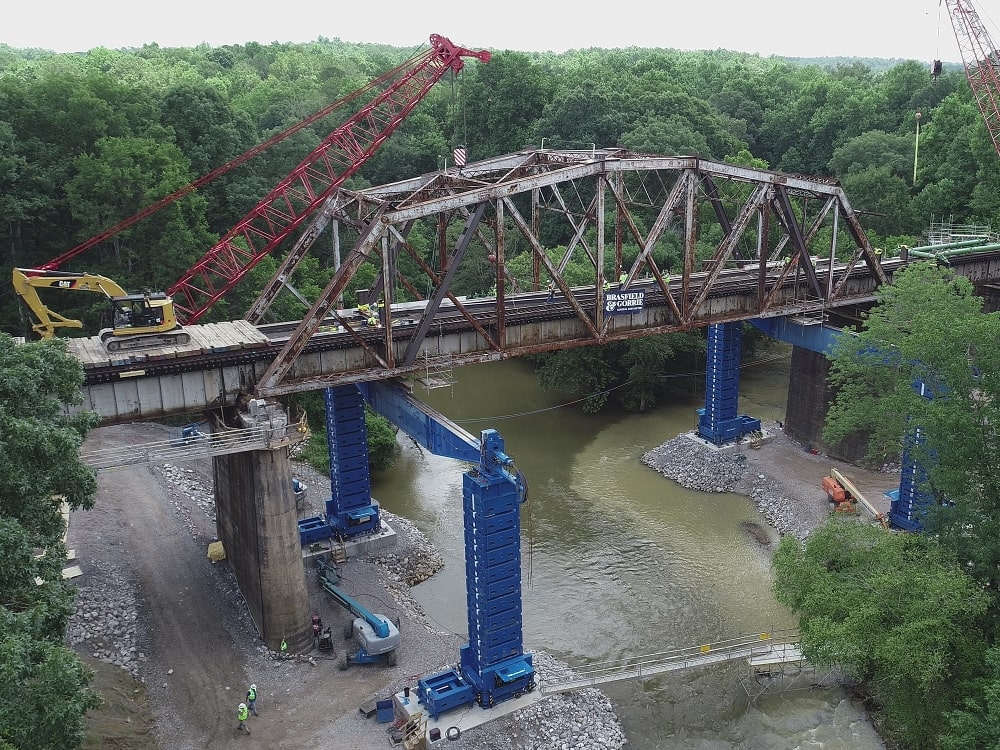 hydraulic jacking equipment for bridge lift