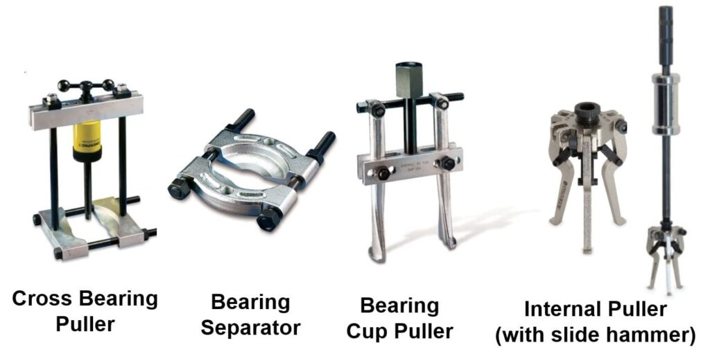 bearing pullers and internal puller