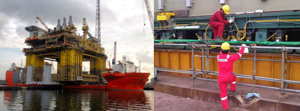 offshore platform application for hydraulic cylinder