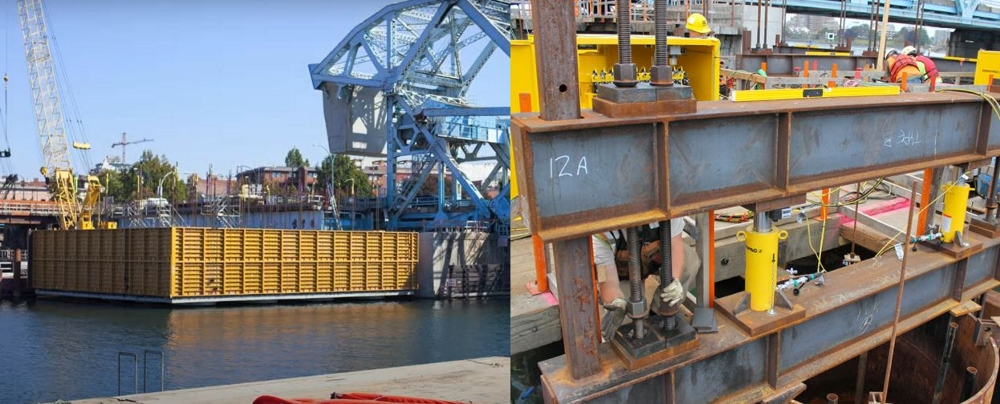 pier box lowering applications for hydraulic cylinders