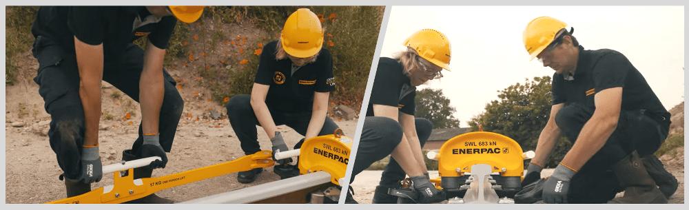 assembling a rail stressor