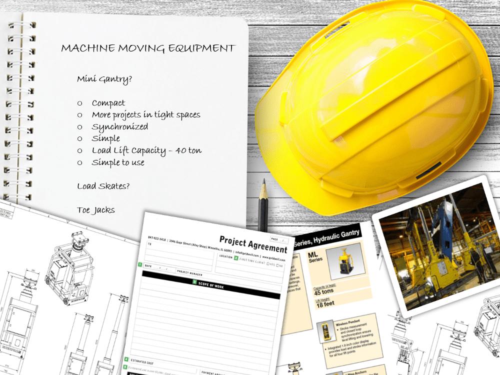 moving heavy machines equipment checklist