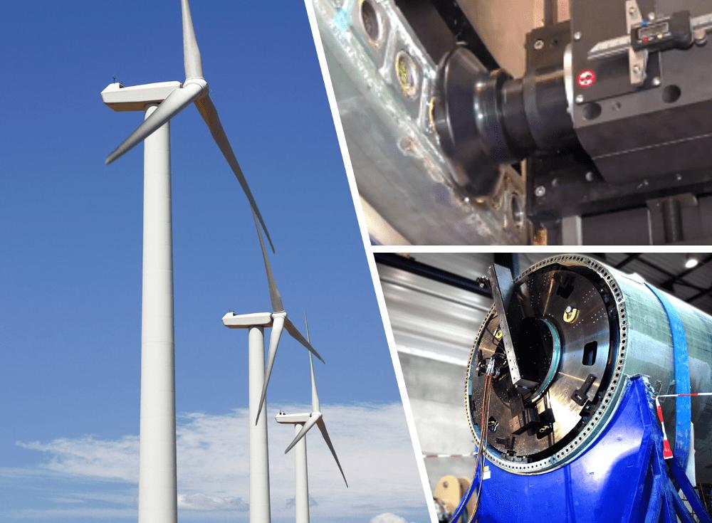 wind turbine manufacture using an orbital milling machine
