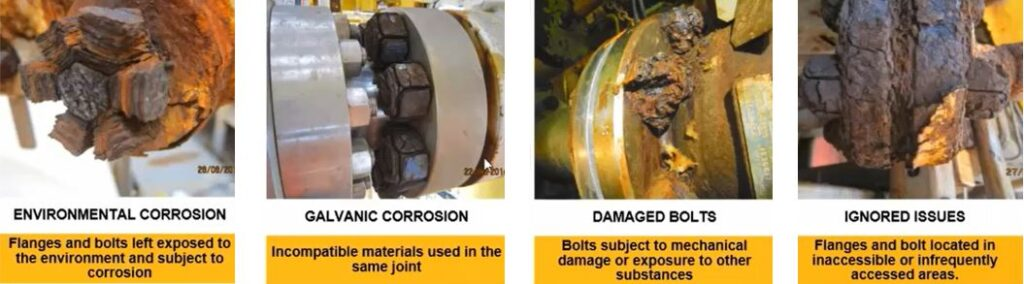 types of bolt corrosion  where hot bolting can help