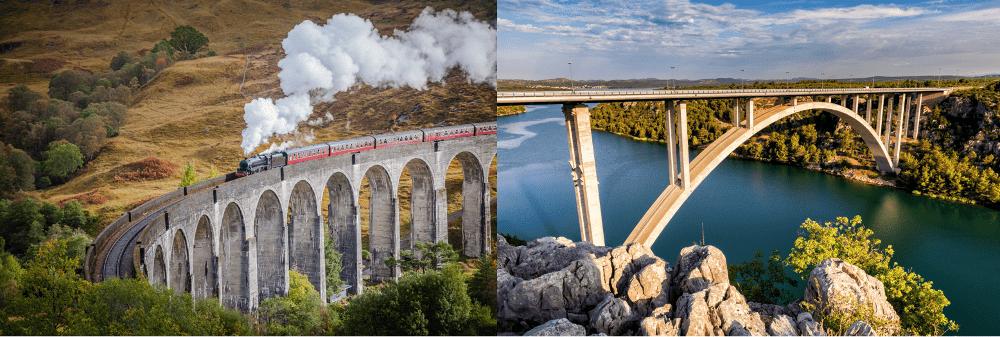 types of bridges arched bridges ols and modern