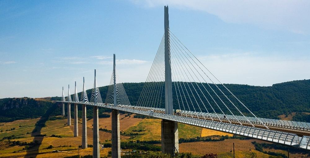 cable stayed type of bridge