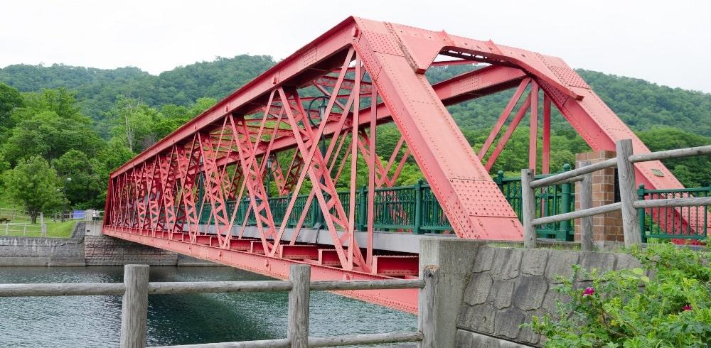 truss type of bridge constructed from girders