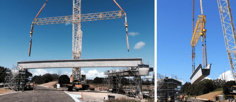 hoist to lift concrete bridge girders