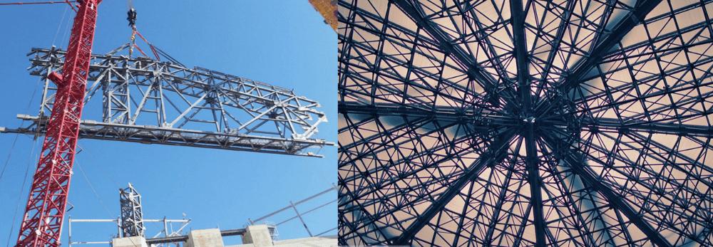 hoist to lift stadium roof girders