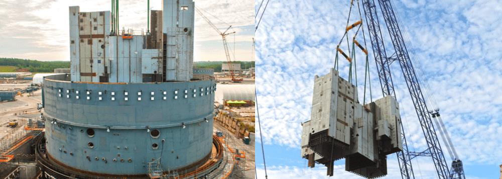 hoist lifting module at nuclear plant